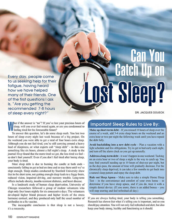 Restoring Lost Sleep Infograph